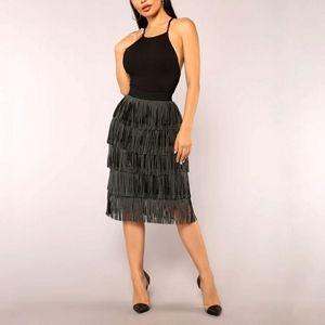 Fashion Nova Glow Up Fringe Skirt